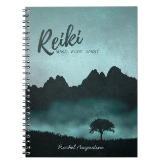 Natural Reiki Master and Yoga Mediation Instructor Spiral Notebook