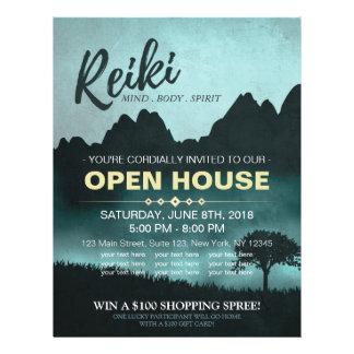 Natural Reiki Master & Yoga  instructor Open House Flyer Design