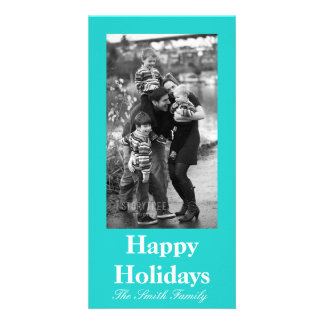 Natural Robin's Egg Blue Color Customizable Photo Cards