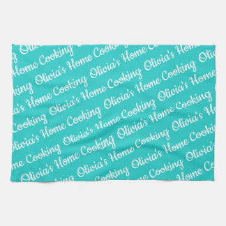 Natural Robin's Egg Blue Color Kitchen Towel