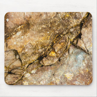 Natural rock Mousepad with Turquoise