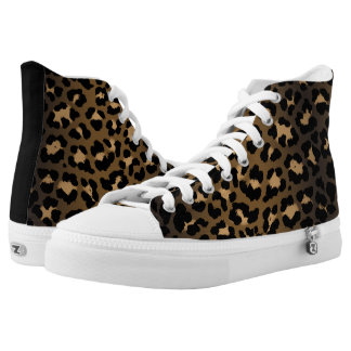 Natural Rockabilly Psychobilly Leopard Print High Tops