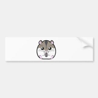 Natural Russian Dwarf Hamster Bumper Sticker