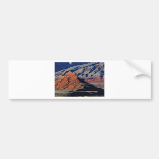 natural shapes of the desert bumper sticker