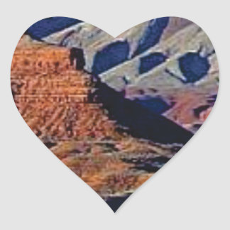 natural shapes of the desert heart sticker