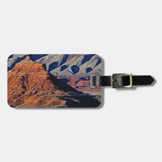 natural shapes of the desert luggage tag