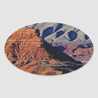 natural shapes of the desert oval sticker