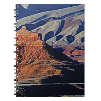 natural shapes of the desert spiral notebook