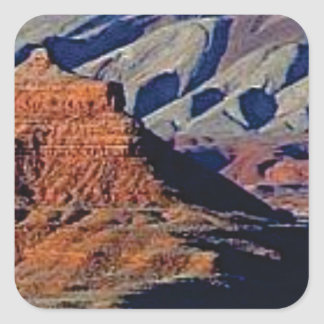 natural shapes of the desert square sticker
