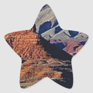 natural shapes of the desert star sticker