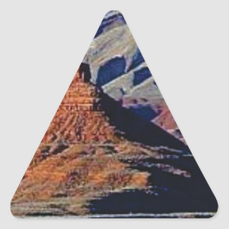 natural shapes of the desert triangle sticker