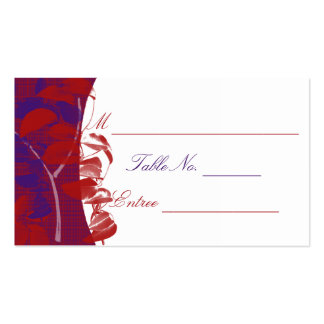 Natural Silhouettes: Red and Purple Leaf Design Pack Of Standard Business Cards