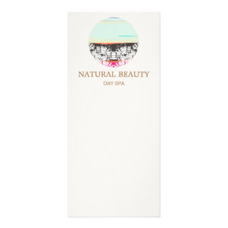 Natural Skincare Beauty Spa Sunrise Logo Rack Card