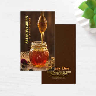 Natural Skincare Facial Aromatherapy Bee Honey Business Card