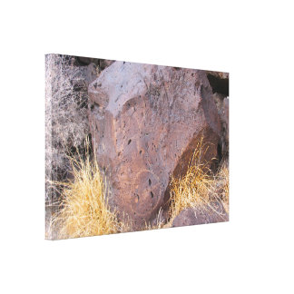 Natural Stone Petroglyph Canvas Print