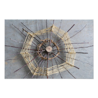 Natural String & Wood Sculpture Photo Centered
