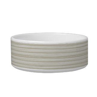 Natural stripes cat food bowl