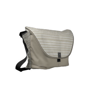 Natural stripes commuter bag