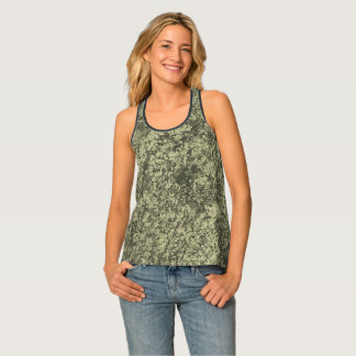 Natural Texture Green Tank Top