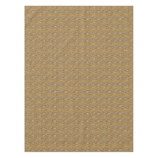 Natural Tones Bamboo Basket Weave Tablecloth