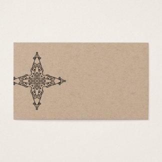 Natural visit card with Mandala