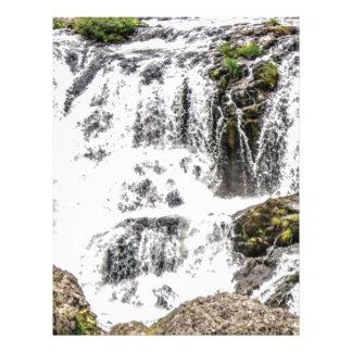 Natural water flows letterhead