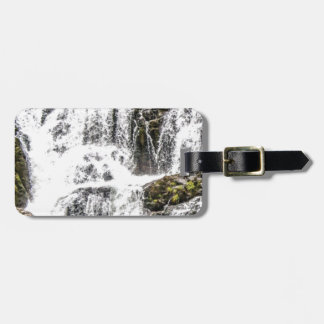 Natural water flows luggage tag