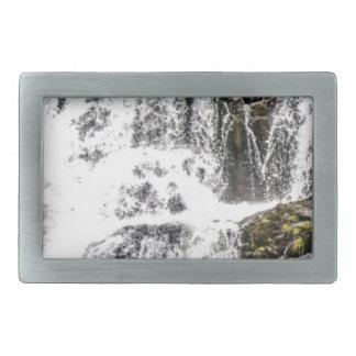 Natural water flows rectangular belt buckle