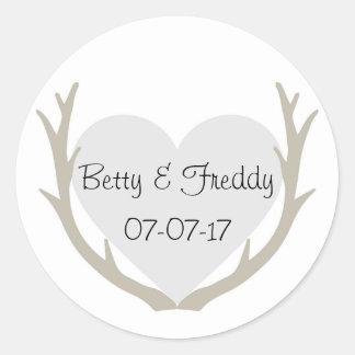 Natural Wedding Classic Round Sticker