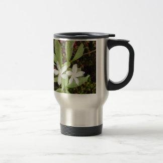 Natural White Beautiful Flower Travel Mug