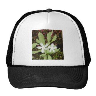 Natural White Beautiful Flower Trucker Hat