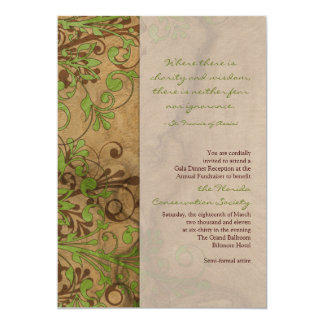 Natural Wood and Floral Fundraiser or Corporate Card