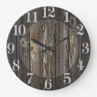 Natural wood background texture. large clock