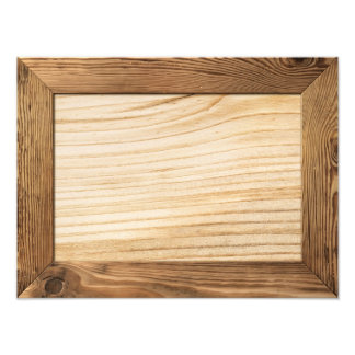 Natural Wood Frame With Wooden Plank Inside Photograph