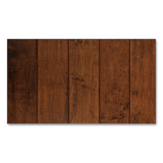 Natural Wood Magnetic Business Card