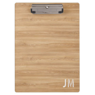 Natural Wood Monogram Clipboard