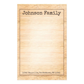 Natural Wood Texture Stationery