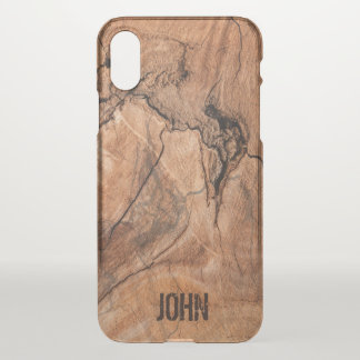 Natural Wood With Knots iPhone X Case