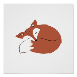 Natural Woodland Fox Perfect Poster