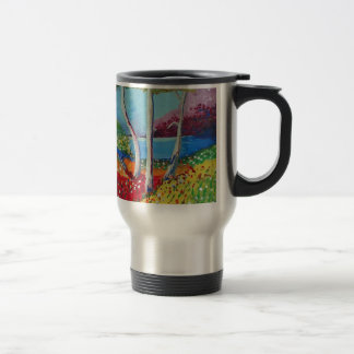 Naturally colorful travel mug
