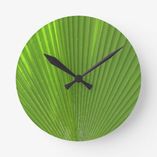 Naturally Cool Surfaces_Palm Frond radiating Round Clock