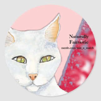 Naturally Fantastic Logo - Cosmo Classic Round Sticker