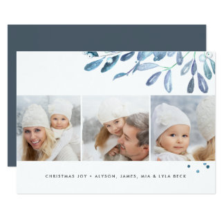 Naturally Joyful | Holiday Photo Collage Card