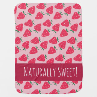 Naturally Sweet Strawberry Baby Girl blanket Receiving Blankets