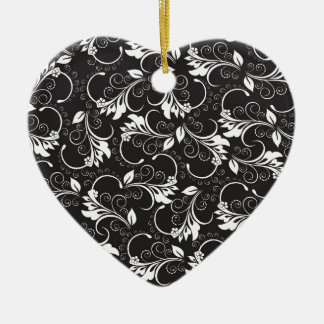 nature, abstract, trees, foliage , grung ceramic heart ornament