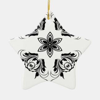 nature, abstract, trees, foliage , grung ceramic star ornament