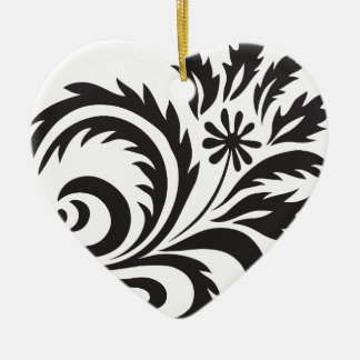 nature, abstract, trees, foliage , grung, daisy ceramic heart ornament