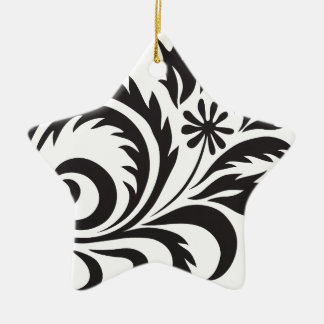 nature, abstract, trees, foliage , grung, daisy ceramic star ornament