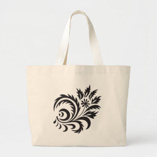 nature, abstract, trees, foliage , grung, daisy large tote bag