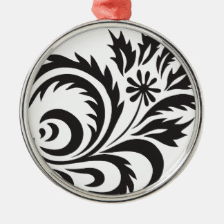 nature, abstract, trees, foliage , grung, daisy Silver-Colored round ornament